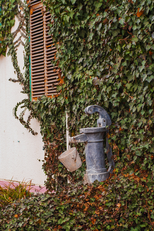 Fire hydrant on the street in Europe. overground fire hydrant in the city . Source of fire water for firefighters. Emergency water source .