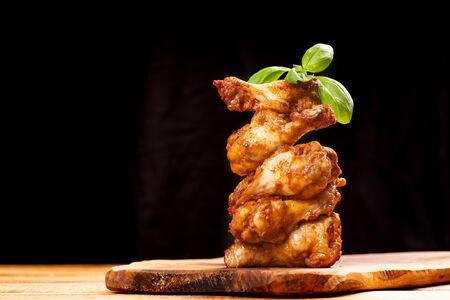 Delicious crispy chicken wings in bread crumbs.