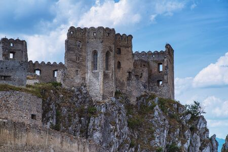 Nove Mesto nad Vahom, Trencin, Slovakia Beckov.The historical structure. The ruins of the Middle Ages. Beckov Castle in Slovakia.