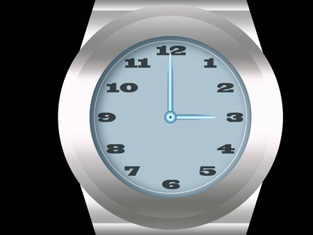wristwatch: Wristwatch as an illustration  isolated with black background