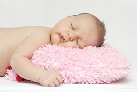 Beautiful sleeping newborn baby  photo