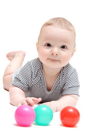 Happy Baby mit Kugeln Standard-Bild - 19560394