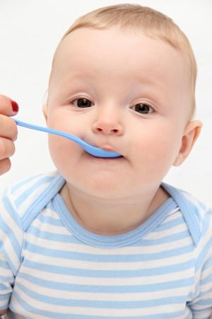 porridge: Beautiful baby eating