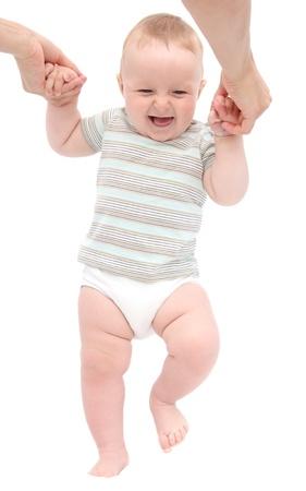 Happy Baby die ersten Schritte Standard-Bild - 21163416