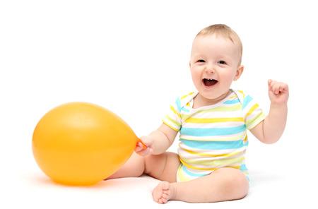 Happy Baby mit Ballon Standard-Bild - 24171980