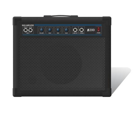 Illustration of bass combo on white background
