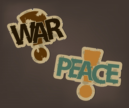 Stripes of war and peace on a dark background Vector