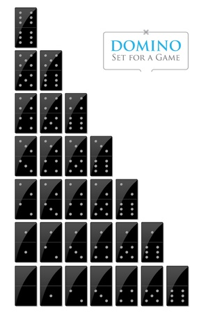 Illustration of set for a game of dominoes Stock Vector - 15412579