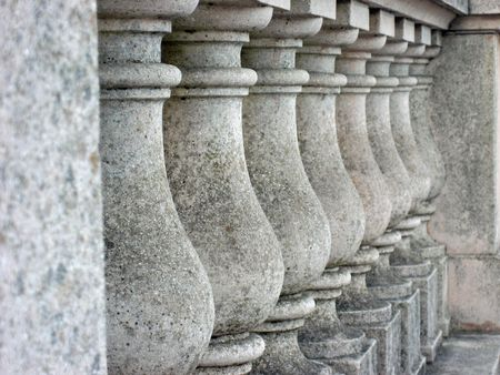 Detail of cement pillars on a bridge in Golden Gate Park, San Francisco, California Stock Photo - 648707