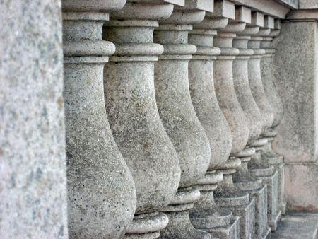 Detail of cement pillars on a bridge in Golden Gate Park, San Francisco, California Stock Photo - 648707
