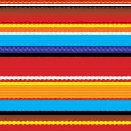 원활한 다채로운 멕시코 패브릭 패턴