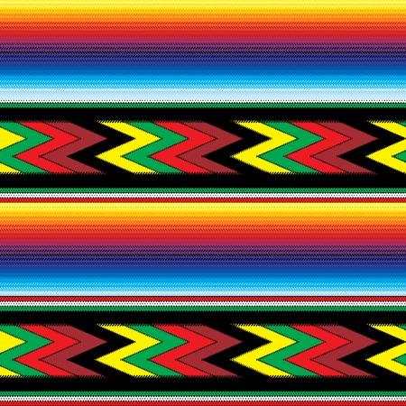 colorido tejido sin costuras modelo mexicano