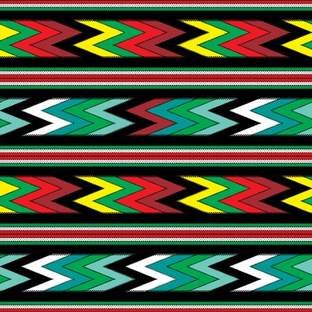 craft materials: seamless colorful mexican fabric pattern Illustration