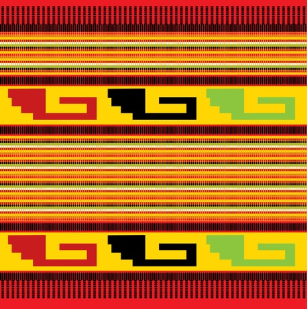 the banded: seamless colorful mexican fabric pattern Illustration