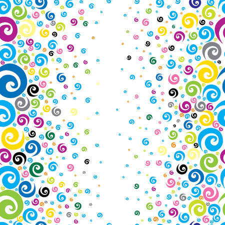 decorative style: Seamless multicolor background with cute spirals  Illustration