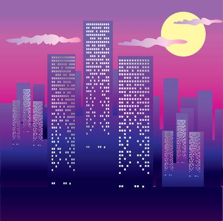 new york night: Big city in the night
