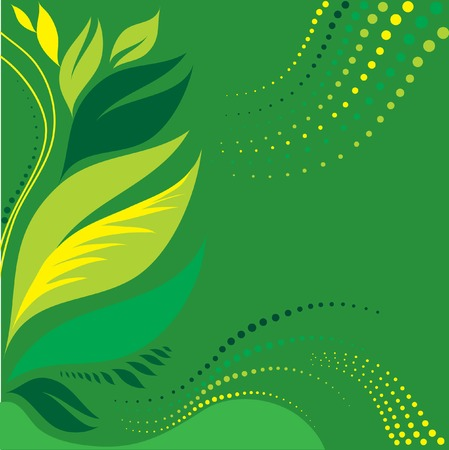 Green leafs background Stock Vector - 4311455