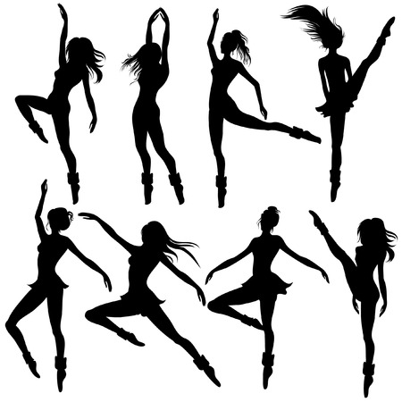 Girls dancing modern ballet Stock Vector - 4311466