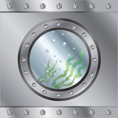 metallic seaweed: Underwater background