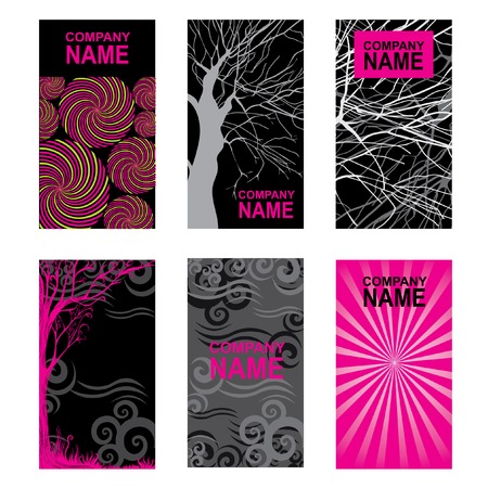 Bright modern business cards background