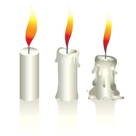 fondu: Illustration de bougies Illustration