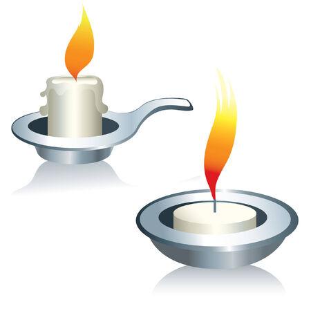 sconce: Ilustraci�n de las velas Vectores