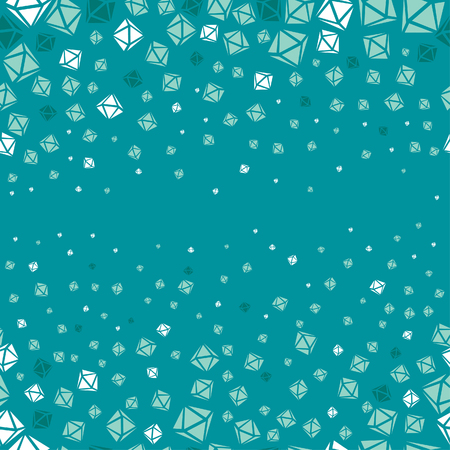 Seamless aquamarine diamond pattern Vector