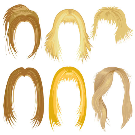 Blondy hair styling Vector