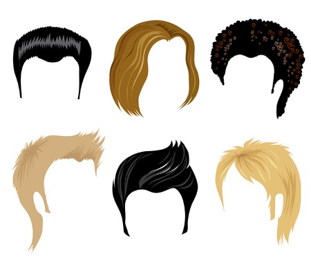hair style set: Hair styling for men Illustration