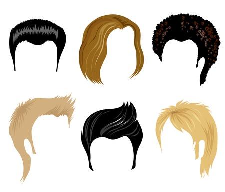 Hair styling for men Illustration