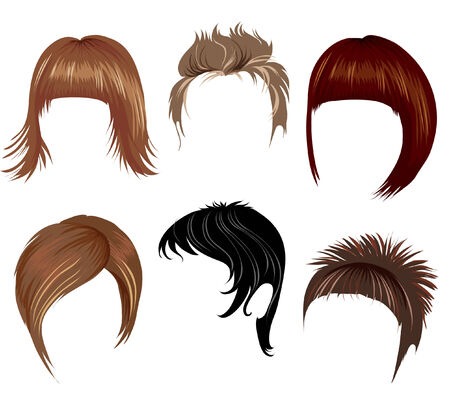 Hair styling for women Illustration