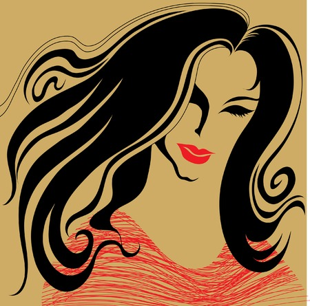 womanish: Vintage woman with beautiful hair
