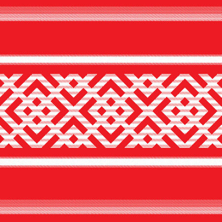 banded: Russian seamless pattern