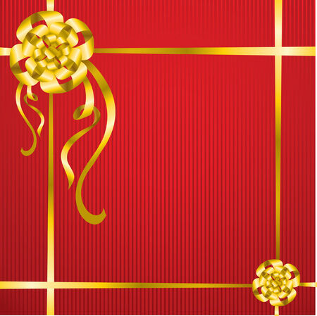 Present red background Vector