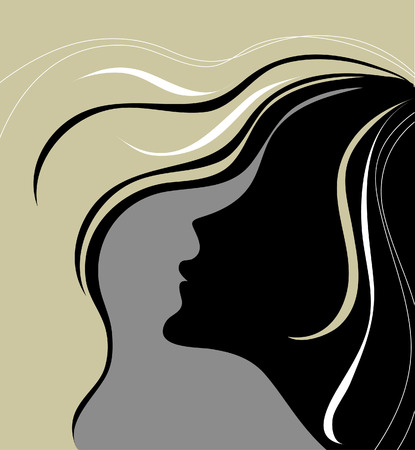 Closeup vintage woman with beautiful hair
