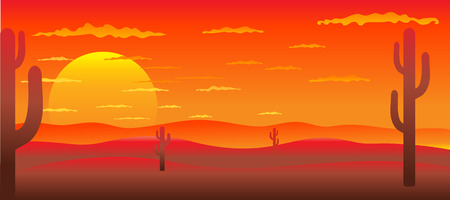 Background with American landscape Vector