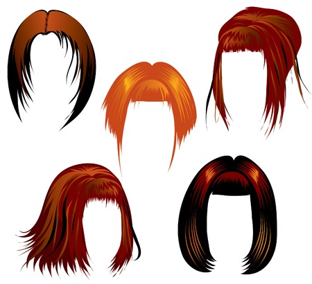 Set of hair styling for woman Vector