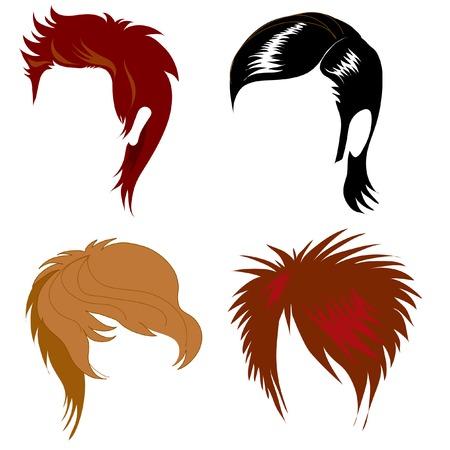Conjunto de pelo de estilo para el hombre Ilustración de vector