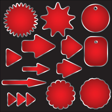 Set of red arrows signs Stock Vector - 5072378