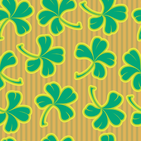 Seamless background with clover Stock Vector - 5072368