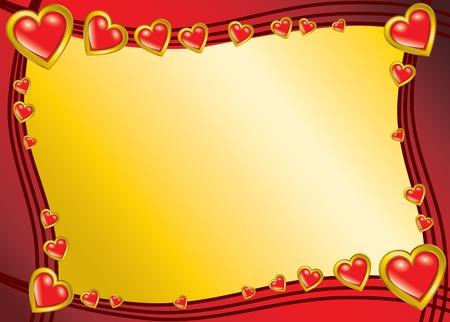 Saint Valentines Day background Vector