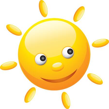вал: Cute funny sun illustration Иллюстрация