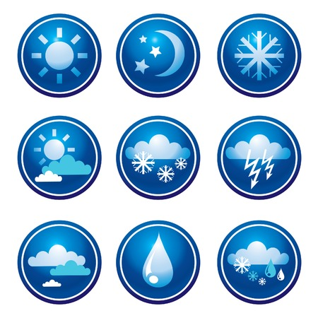 Set of weather web icons Stock Vector - 5072507