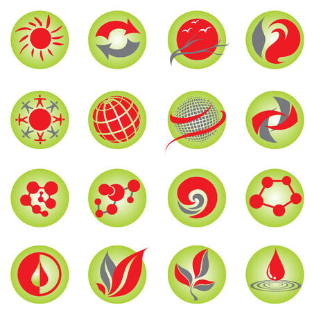 Set of natural web icons Stock Vector - 5072534