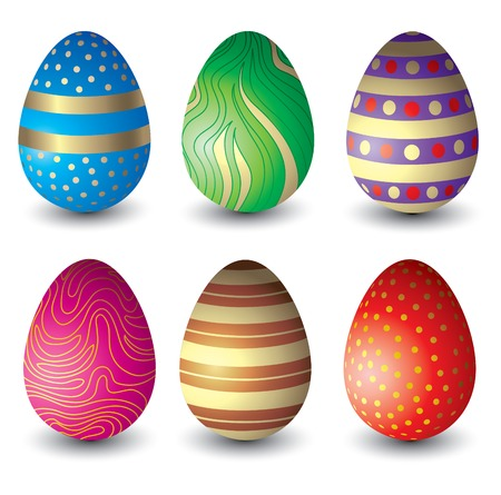 Set of beautiful Easter eggs 1 Vector