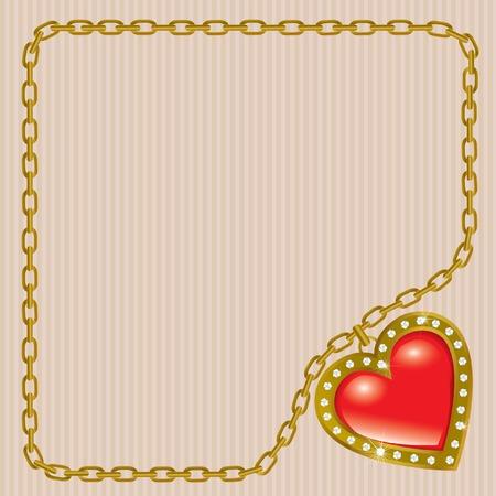 Saint Valentines Day. Precious heart. Vector