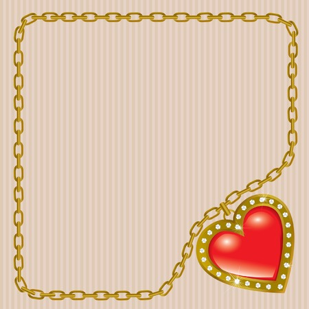 brilliant heart: Saint Valentines Day. Precious heart.