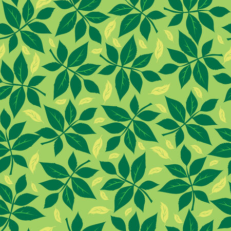 Seamless leafs background Vector