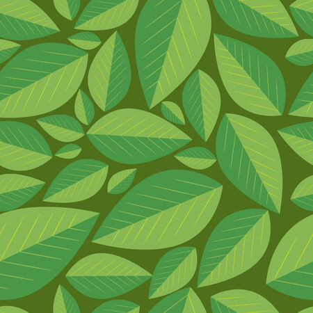 Seamless leafs background Stock Vector - 5072531