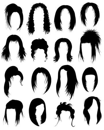 Gran conjunto de pelo negro peinado para la mujer